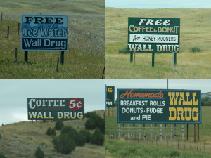 Wall Drug Highway Adverts
